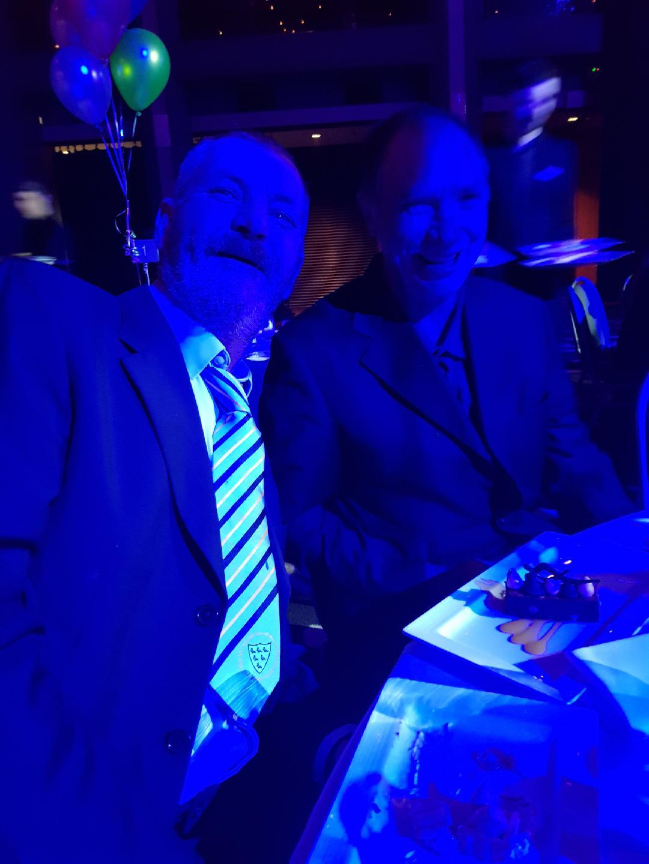 Reg & Damian strike a pose